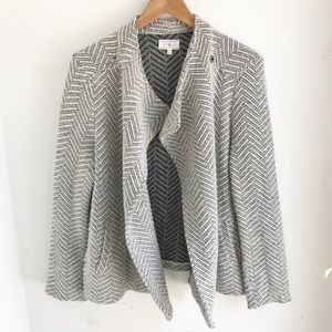 LOU & GREY | Moto Style Herringbone Sweater Jacket